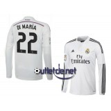 Real madrid 2014 Maillot Di Maria Domicile blanc manches longues
