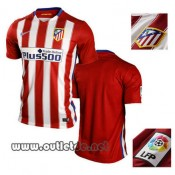 Site officiel Maillot De Foot atletico madrid 2015 2016 Domicile Rouge V-cou boutique
